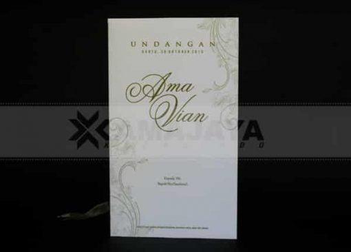 View front undangan Gold Ama - Vian