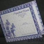 Cover Warna Biru tema wayang dan batik