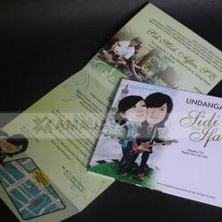 Cover dan isi undangan pernikahan sidi - ifa