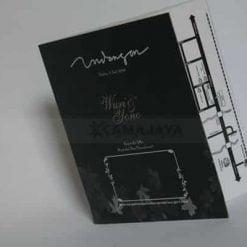 Cover Undangan Hitam Softcover Wuri Yono