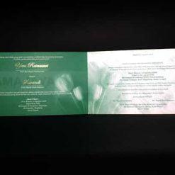 Bagian dalam undangan Yeni - Wandi