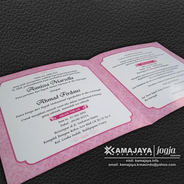 undangan pernikahan photo warna pink annissa ahmad