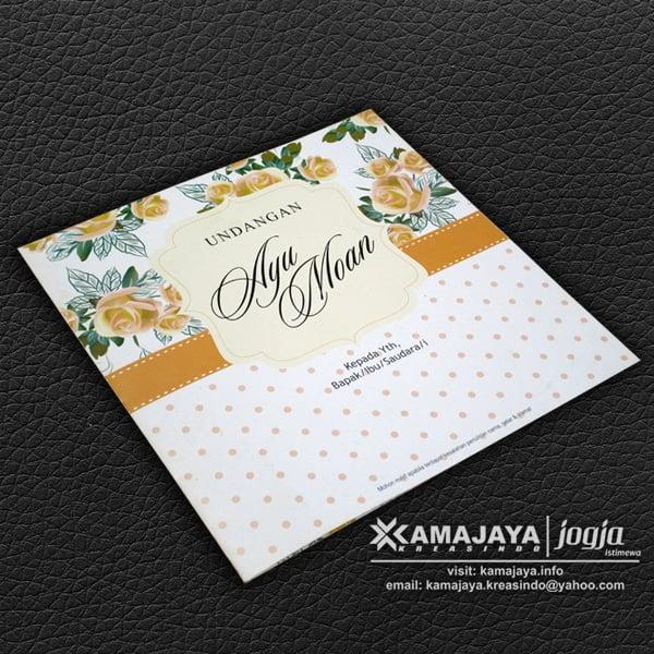 undangan pernkahan vintage bunga orange