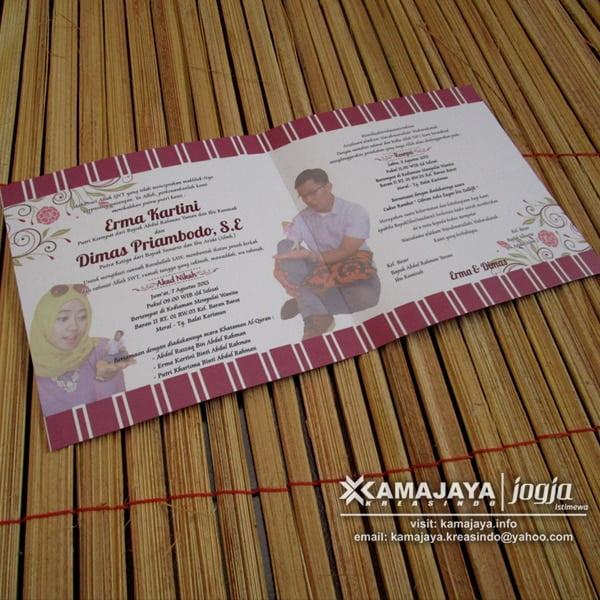 Undangan Pernikahan Photo Coklat Maron