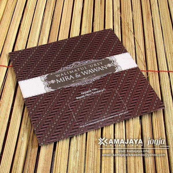 Undangan Pernikahan Motif batik Coklat