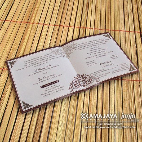 Undangan Pernikahan Warna Coklat Tua