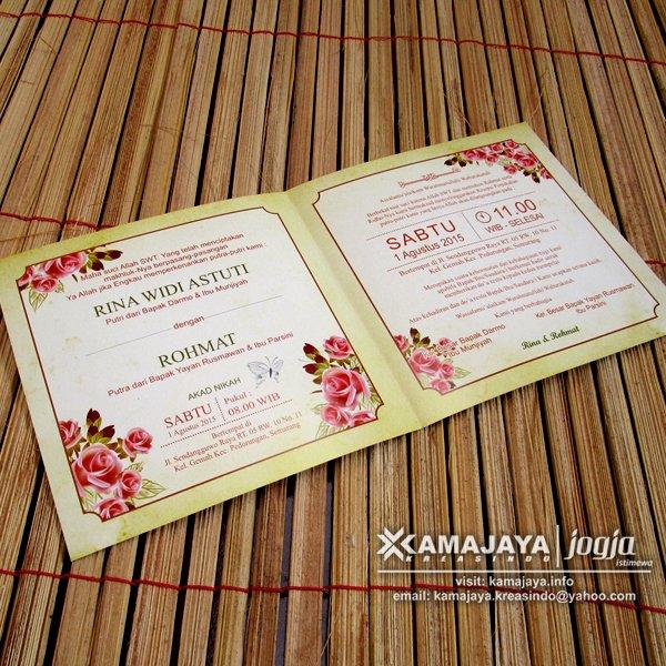 Undangan Pernikahan Warna Krem Typografi