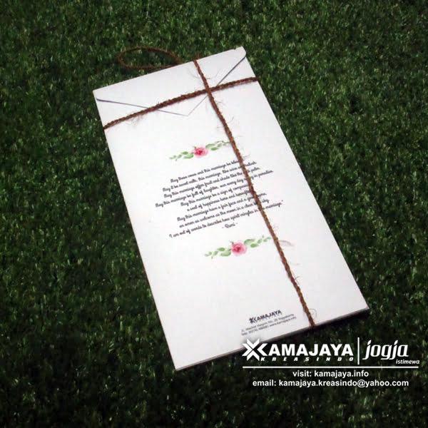 undangan semi hardcover tali goni