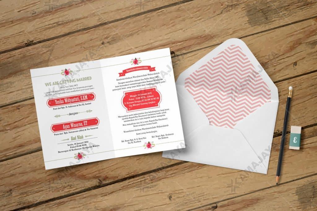 Desain Undangan Pernikahan Bentuk Amplop