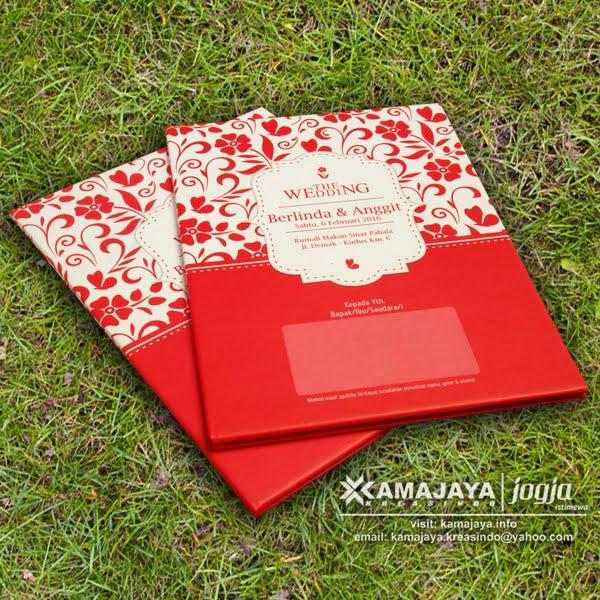 Undangan Hardcover Murah Minimalis Merah
