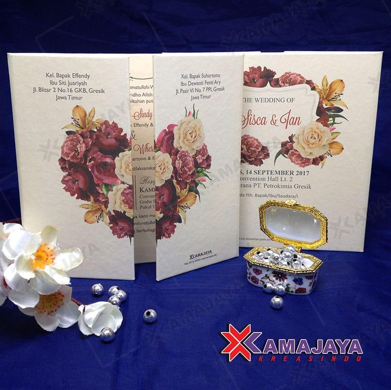 Undangan Hardcover Motif Bunga