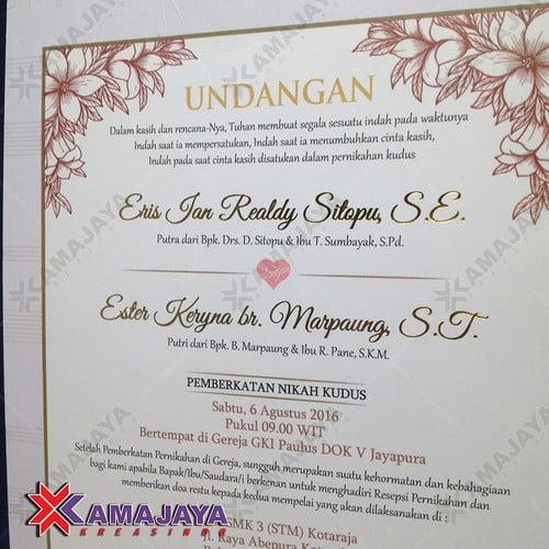 Contoh Undangan Pernikahan Simple Dan Unik Kamajaya Kreasindo